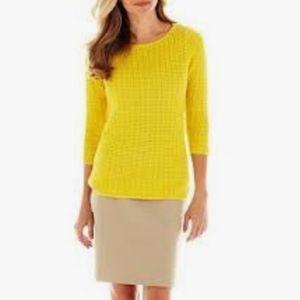 Liz Claiborne 3/4 Sleeve Boatneck Sweater SzL  Euc